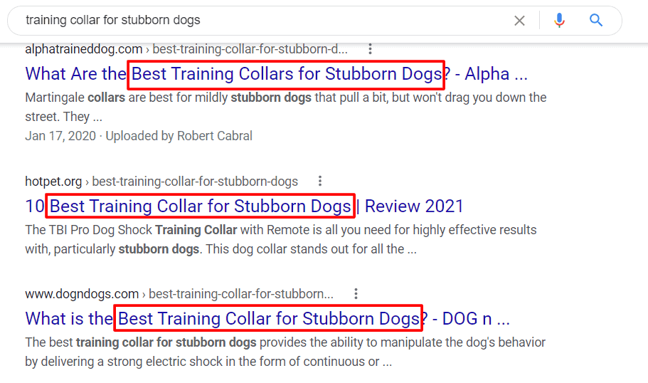 how to find primary keywords