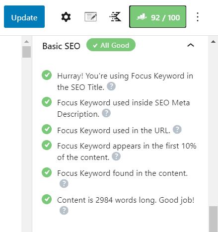 rankmath on-page seo checklist