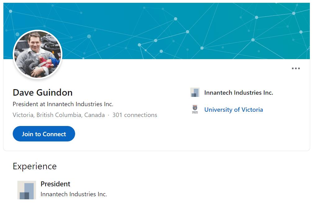 Dave Guindon Software Linkedin Profile