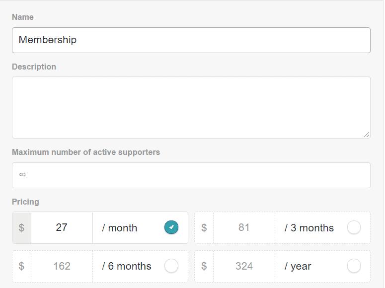 Gumroad membership tiers